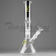 Eagle Eye Glass - Double Chamber Tree Percolator Diffuser Downstem Beaker Water Pipe - 5mm Thickness / 12