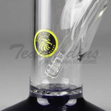 "Eagle Eye Glass - Double Chamber Tree Percolator Diffuser Downstem Straight Water Pipe - Blue Foot / Blue Perc - 5mm Thickness / 16"" Height"