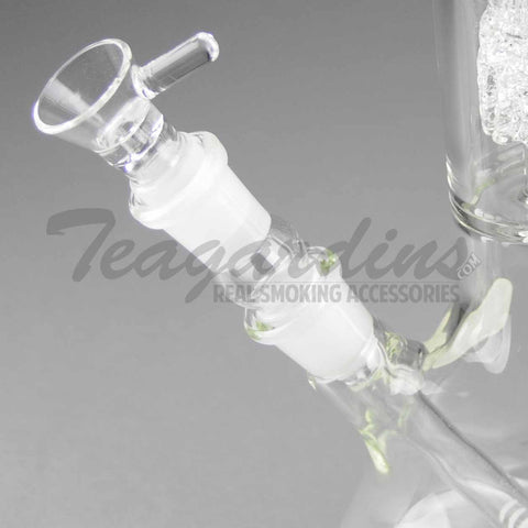 "Eagle Eye Glass - Special Edition - Double Chamber Diamond Percolator Diffuser Downstem Beaker Water Pipe - 5mm Thickness / 18"" Height"