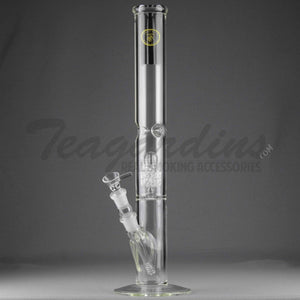 "Eagle Eye Glass 18"" Straight Water Pipe With Diamond Percolator"