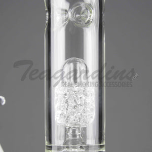 "Eagle Eye Glass - Special Edition - Double Chamber Diamond Percolator Diffuser Downstem Straight Water Pipe - 5mm Thickness / 18"" Height"