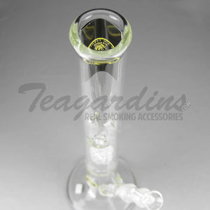 "Eagle Eye Glass - Double Chamber Straight Water Pipe - 5mm Thickness / 18"" Height"