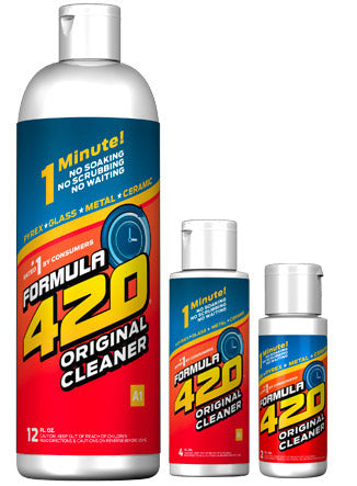 Formula 420 - Water Bong Glass Pipe Cleaning Solution - A1 - Original Cleaner - 12oz For Sale