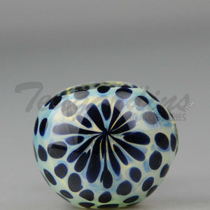 Fumed Glass Spoon With Blue Spots 3""