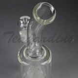 "Teagardin's Glass - Stemless Straight Water Pipe - 5mm Thickness / 12"" Height"