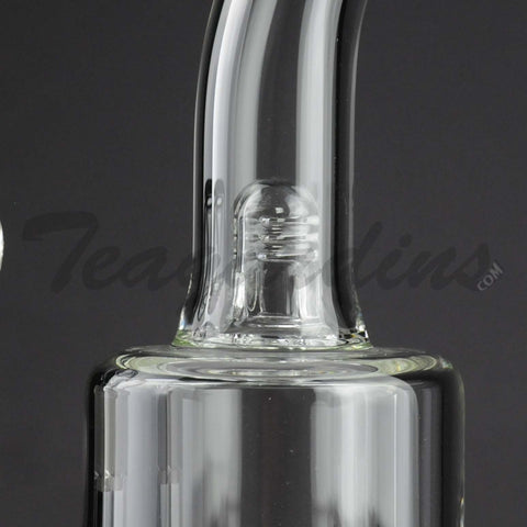 "Teagardins Glass - Stemless Straight Water Pipe - 5mm Thickness / 12"" Height"