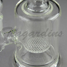 "Load image into Gallery viewer, Teagardins Glass - Honeycomb Percolator Stemless Straight Water Pipe - 5mm Thickness / 10"" HeightTeagardins Glass - Honeycomb Percolator Stemless Straight Water Pipe - 5mm Thickness / 10"" Height"