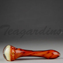 Load image into Gallery viewer, Teagardins - Glass Hand Pipe Ghost Honey Comb Red White