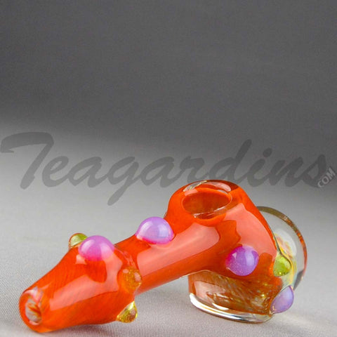 Teagardins Glass - Ghost Honeycomb Drop Hammer Hand Pipe Red