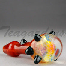 Load image into Gallery viewer, Teagardin's - Glass Ghost Honey Comb Hand Pipe Red