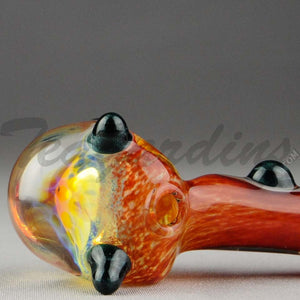 Teagardin's - Glass Ghost Honey Comb Hand Pipe Red