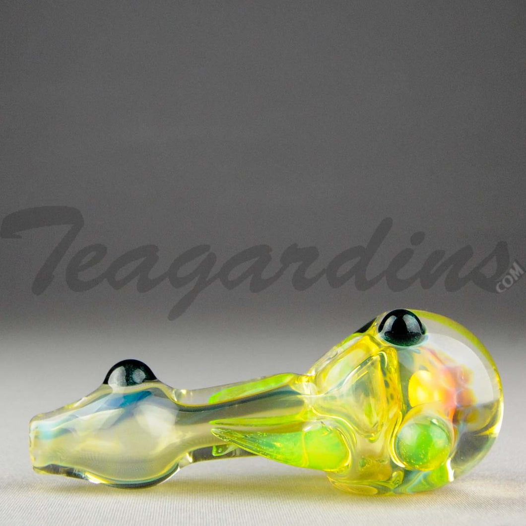 Teagardin's - Glass Spoon Ghost Honey Comb Hand Pipe Slyme Horn