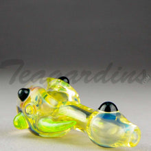 Load image into Gallery viewer, Teagardin's - Glass Spoon Ghost Honey Comb Hand Pipe Slyme Horn