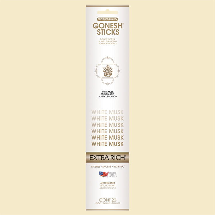 Gonesh - Incense Extra Rich Collection White Musk for sale