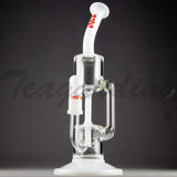 "Grav Glass - Bear Designed Recycler Dab Rig - White - 4mm Thickness / 11"" Height"