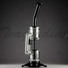 Load image into Gallery viewer, Grav Glass - Bear Designed Inline Oil Rig Recycler Black Bubbler