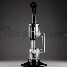 "Load image into Gallery viewer, Grav Glass - Recycler Dab Rig - Black / Bear Design Decal - 4mm Thickness / 11"" Height"
