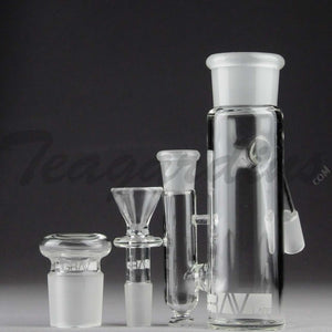 "Grav Glass - Phoenix - Stemless Ash Catcher / Precooler - 45 Degree Arm / 6"" Height"