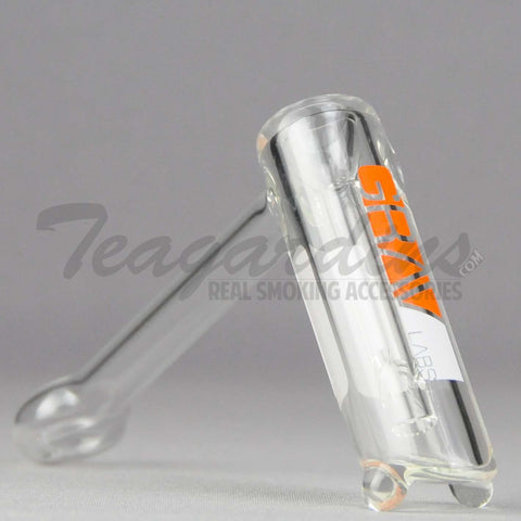 Grav Glass - Small Bubbler Orange Water