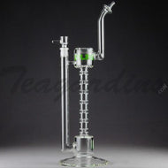 Grav Glass - Upline Collabs - 6 Chamber Spine Stemless Straight Water Pipe - 4mm Thickness / 13