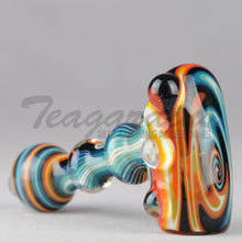 Load image into Gallery viewer, Greenlite Glass Fully Reversal Lava Worked Briar Style Pipes Hand Spoon Smoking