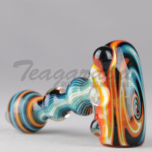Greenlite Glass Fully Reversal Lava Worked Briar Style Pipes Hand Spoon Smoking