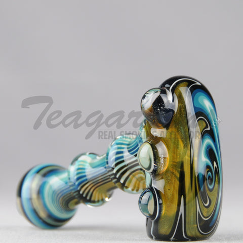 Greenlite Glass-Fully Reversal Oil Worked Briar Style Pipe