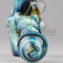 Load image into Gallery viewer, Greenlite Glass Fully Reversal Oil Worked Briar Style Pipes Hand Spoon Smoking