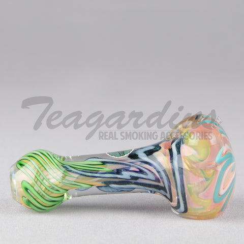 Greenlite Glass - Spoon With Flower in Head