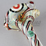 Greenlite Glass Spun Flower Spoon Red Black Pipes Hand Spoon SmokingGreenlite Glass Spun Flower Spoon Red Black Pipes Hand Spoon Smoking