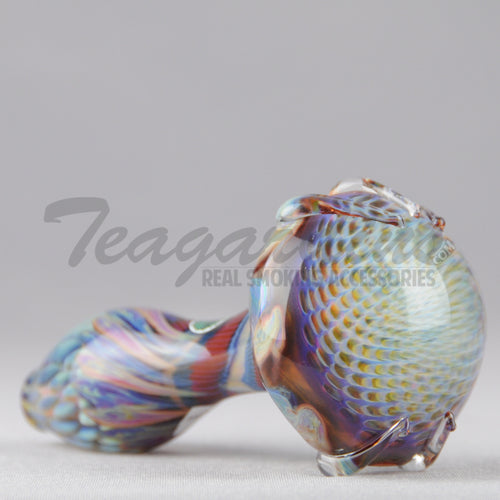 Greenlite Glass Honeycomb Claw Glass Spoon Pipe