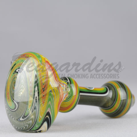 Greenlite Glass Fully Worked Large Spoon