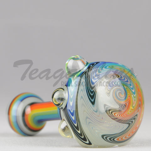 Greenlite Glass Fully Worked Rainbow Large Hand Spoon Smoking Pipes