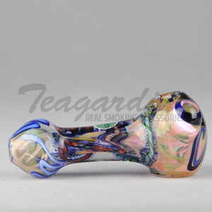 Greenlite Glass Hand Pipes Glass Spoon Pipe Flower in Head