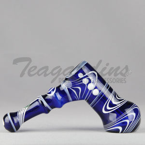 Greenlite Glass Cobalt Blue Diffused Bubbler Pipes Hand Spoon Smoking