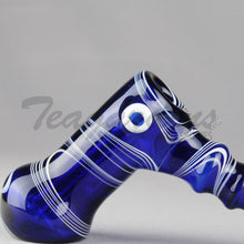 Load image into Gallery viewer, Greenlite Glass Cobalt Blue Diffused Bubbler Pipes Hand Spoon Smoking