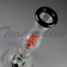 Load image into Gallery viewer, Helix Glass - Beaker Water Pipe With Black Base Red Label