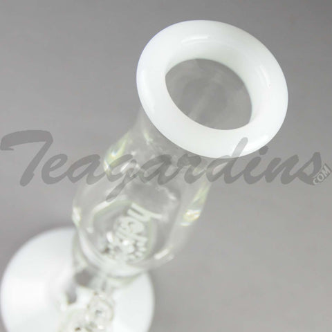 Helix Glass - Stemless Straight Water Pipe Nano White