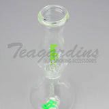 Helix Glass - Water Pipe Nano Green Best 10""