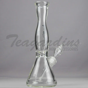 "Helix Glass - Beaker Water Pipe Black 14"" Best"