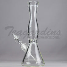 "Load image into Gallery viewer, Helix Glass - Beaker Water Pipe Black 14"" Best"