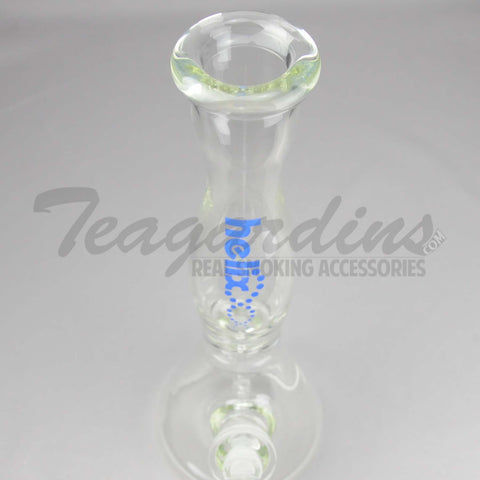 Helix Glass - Beaker Water Pipe Blue 14""