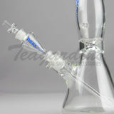"Helix Glass - Beaker Water Pipe Blue 14"" Best"