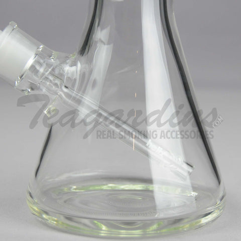 "Helix Glass - D.I. Double Chamber Venturi Chamber Percolator Beaker Water Pipe - Green Decal - 5mm Thickness / 18"" Height"