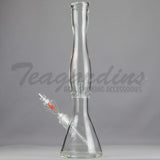 "Helix Glass Beaker Water Pipe Large Red 18"" Best"