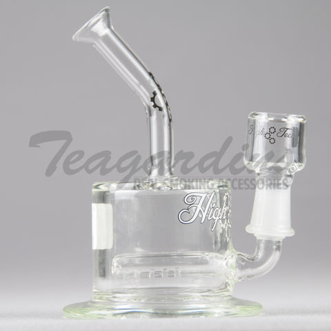 "HighTech Glass - C300 - Inline Diffuser Oil Rig - White Decal - 4mm Thickness / 6.5"" Height"