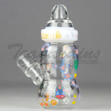 Load image into Gallery viewer, High Tech Glass - Hammer Head Baby Bottle Hitman Collaboration Oil Rigs Mini Tubes