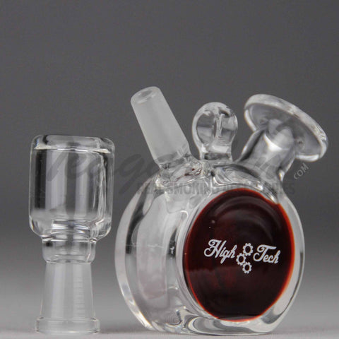 "High Tech Glass - Pendant - Dab Rig - Burgundy - 4mm Thickness /3"" Height"