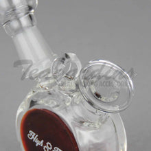 "Load image into Gallery viewer, High Tech Glass - Mini Pendant - Dab Rig - Burgundy - 4mm Thickness /3"" Height"