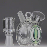 "High Tech Glass - Mini Pendant - Dab Rig - Green - 4mm Thickness / 3"" Height"